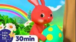 Rainbow Hopping Bunnies - Easter Egg Hunt +More Nursery Rhymes | Learn with Little Baby Bum