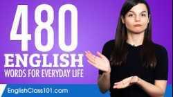 480 English Words for Everyday Life - Basic Vocabulary #24