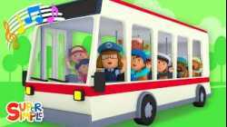 The Wheels On The Bus    ft. Carl's Car Wash   Super Simple Songs