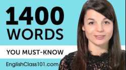 1400 Words Every English Beginner Must Know