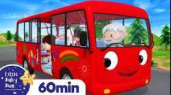Wheels On The Bus Part 14   Vehicle Songs & Nursery Rhymes   ABCs & 123s   Little Baby Bum