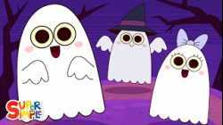 Five Little Ghosts   Halloween Song for Kids   Super Simple Songs
