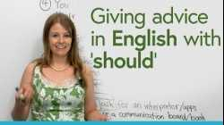 Giving advice in English with 'SHOULD' & tips for being in a hospital
