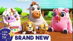 Learn the Animal Sounds at the Farm - Wheels on the Bus | Brand New | ABCs and 123s |Little Baby Bum