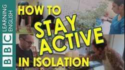 Coronavirus self-isolation: Stay active with us!