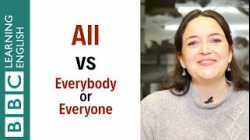 What's the difference between 'all' and 'everybody' or 'everyone'? - English In A Minute