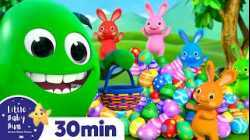 Rainbow Hopping Bunnies Happy Easter! +More Nursery Rhymes & Kids Songs | Learn with Little Baby Bum