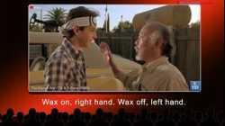 English @ the Movies: Wax on, wax off