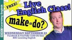 Live English Class - Make and Do