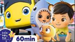 Baby Max Wheels on the Bus +More Nursery Rhymes and Kids Songs   ABCs and 123s   Little Baby Bum