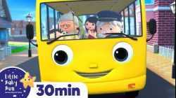 MONSTER On The Bus - Wheels On The Bus! Nursery Rhymes & Kids Songs | ABC and 123 | Little Baby Bum