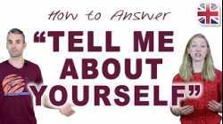 How to Answer: Tell Me About Yourself - Spoken English Lesson