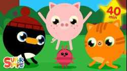 The Roly Poly Roll   + More Kids Songs   Super Simple Songs